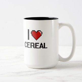 Amo el cereal taza dos tonos