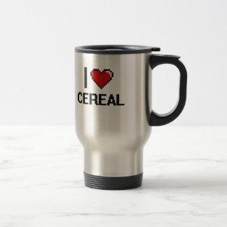 Amo el cereal taza de viaje de acero inoxidable