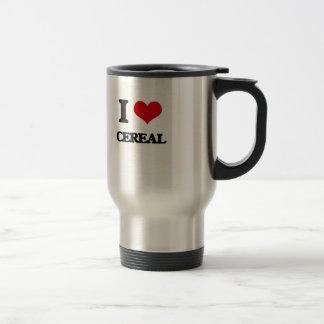 Amo el cereal taza térmica