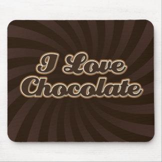 Amo el chocolate Mousepad Alfombrilla De Ratón