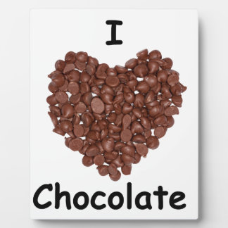Amo el chocolate placa expositora