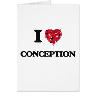 Amo el concepto tarjeta de felicitación