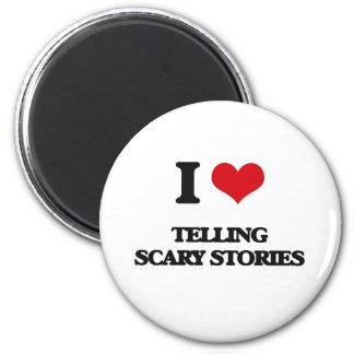 Amo el contar de historias asustadizas imán redondo 5 cm