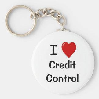 Amo el control de crédito - control de crédito del llavero redondo tipo chapa