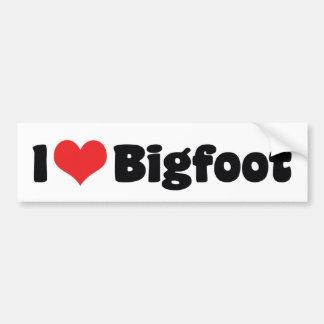 Amo el corazón Bigfoot Sasquatch Yeti Pegatina Para Coche