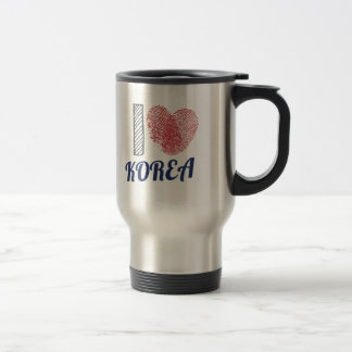Amo el corazón de Corea Taza De Viaje