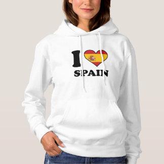 Amo el corazón español de la bandera de España Sudadera