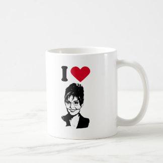 Amo el corazón Sarah Palin de Sarah Palin/I Taza De Café