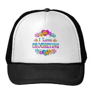 Amo el Crocheting Gorras