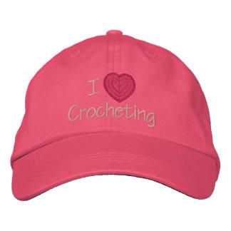 Amo el Crocheting Gorra De Béisbol Bordada