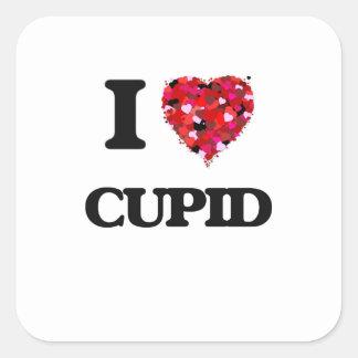 Amo el Cupid Pegatina Cuadrada