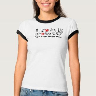 Amo el _del grado/el tacto de los profesores camiseta