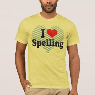 Amo el deletrear camiseta