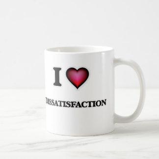 Amo el descontento taza de café