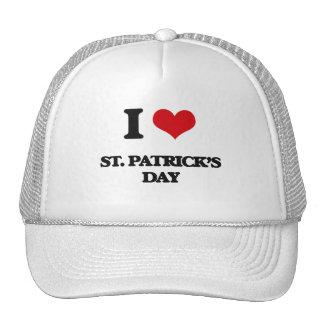 Amo el día de St Patrick Gorro