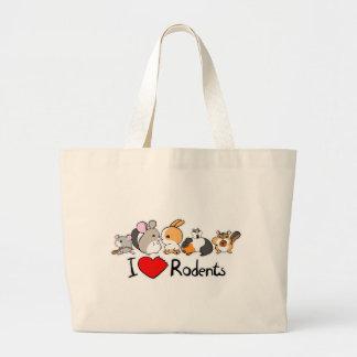 Amo el dibujo animado lindo de los roedores bolsa
