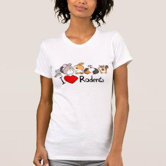 Amo el dibujo animado lindo de los roedores camiseta