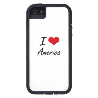 Amo el diseño artístico de América Funda Para iPhone 5 Tough Xtreme