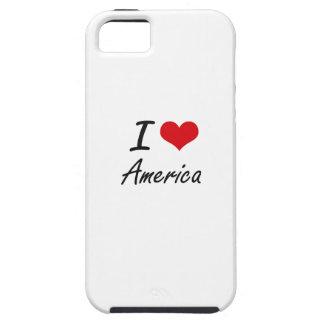 Amo el diseño artístico de América iPhone 5 Case-Mate Protectores