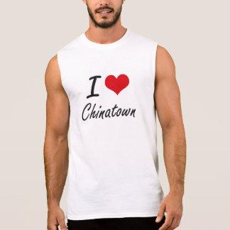 Amo el diseño artístico de Chinatown Camisetas Sin Mangas