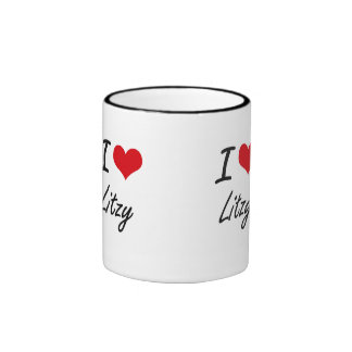Amo el diseño artístico de Litzy Taza A Dos Colores