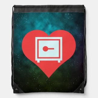 Amo el diseño casero de las cajas fuertes mochilas