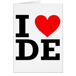 Amo el diseño de Delaware Tarjeta De Felicitación