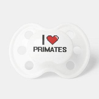 Amo el diseño de Digitaces de los primates Chupete De Bebé
