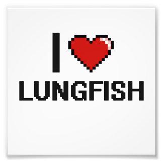 Amo el diseño de Digitaces del Lungfish Fotografía