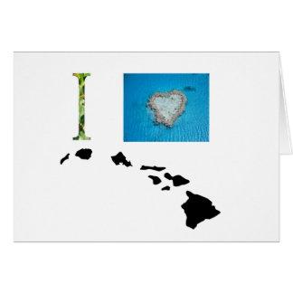 Amo el diseño de Hawaii Felicitación