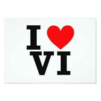 Amo el diseño de las Islas Vírgenes Invitación 12,7 X 17,8 Cm