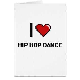Amo el diseño retro de Digitaces de la danza de Tarjeta De Felicitación