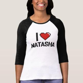 Amo el diseño retro de Natasha Digital Camisetas