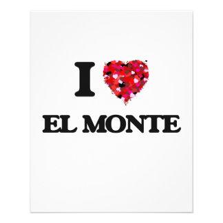 Amo el EL Monte California Folleto 11,4 X 14,2 Cm