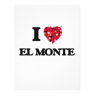 Amo el EL Monte California Folleto 21,6 X 28 Cm