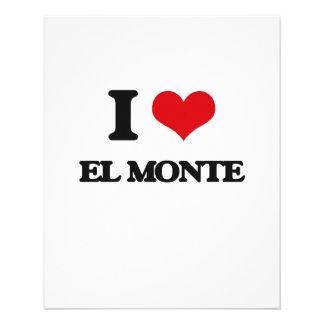 Amo el EL Monte Folleto 11,4 X 14,2 Cm