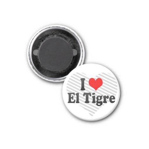 Amo el EL Tigre, Venezuela Imán De Nevera