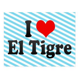 Amo el EL Tigre Venezuela Tarjetas Postales