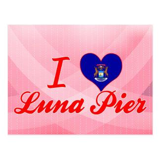 Amo el embarcadero de Luna, Michigan Tarjetas Postales