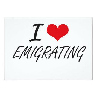 Amo el EMIGRAR Invitación 12,7 X 17,8 Cm