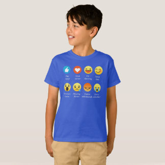 Amo el Emoticon de la DANZA (emoji) (la fuente Camiseta