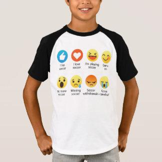 Amo el Emoticon del fútbol (emoji) - oscuridad en Camiseta