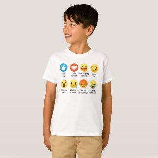 Amo el Emoticon social del FÚTBOL (emoji) (la Camiseta