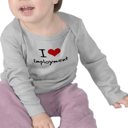 Amo el empleo camisetas