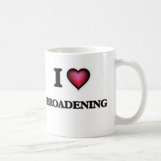 Amo el ensanchar taza de café
