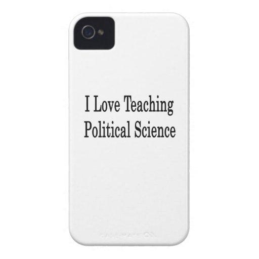 Amo el enseñar de ciencia política iPhone 4 fundas