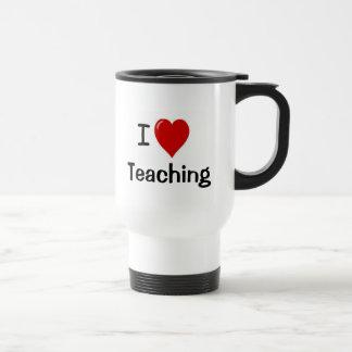 Amo el enseñar de la taza del viaje