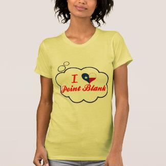Amo el espacio en blanco del punto, Tejas Camiseta