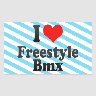 Amo el estilo libre Bmx Pegatina Rectangular