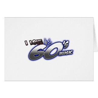 Amo el fan de música de los años 60 de los años 60 tarjeta de felicitación